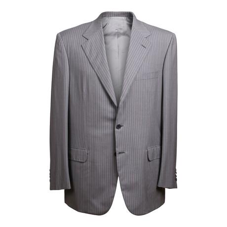 Super 180s Striped 3 Rolling Button Suit // Gray // BRS21 (US: 36R)