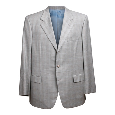 Rolling 3 Button Check Suit // Gray // BRS22 (US: 36S)