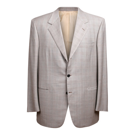 Rolling 3 Button Check Suit // Warm Gray // BRS24 (US: 36S)