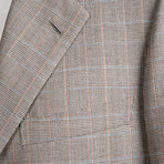 Rolling 3 Button Check Suit // Warm Gray // BRS23 (US: 38R)