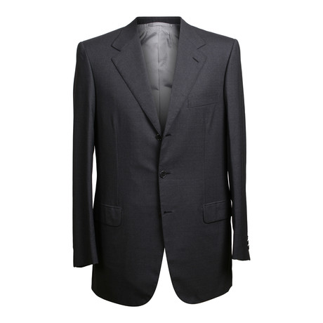 Super 150s Solid 3 Rolling Button Suit // Gray (US: 36S)