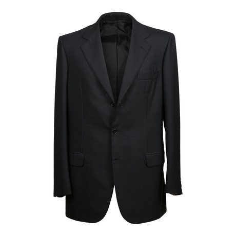 Solid Rolling 3 Button Suit // Black (US: 36S)