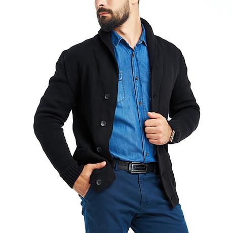 Wool Cardigan // Black (S)