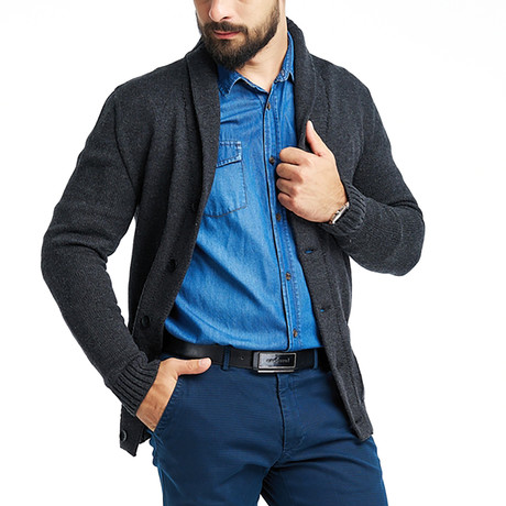 Lewis Cardigan // Dark Gray (S)