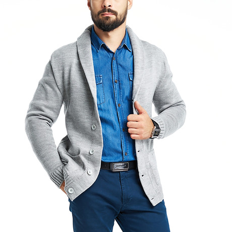 Lewis Cardigan // Light Gray (S)