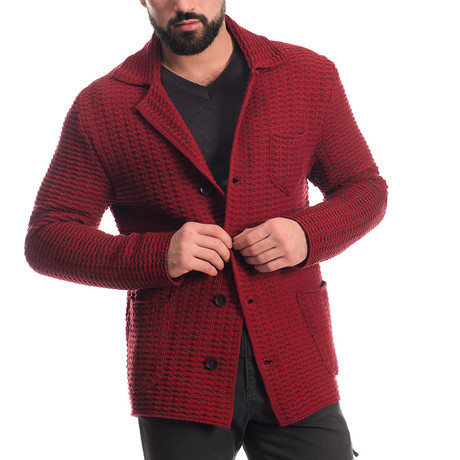 Button Jacket // Bordo (S)