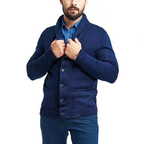 Wool Cardigan // Navy (S)