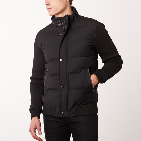Contrast Sleeve W6 Jacket // Black (S)