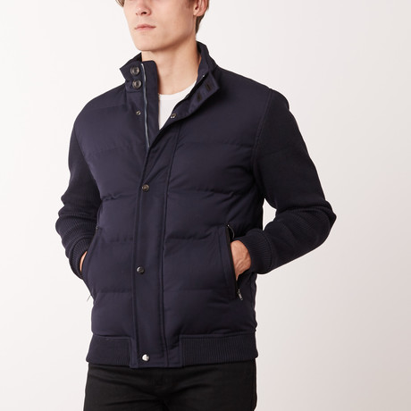 Contrast Sleeve W6 Jacket // Navy (S)