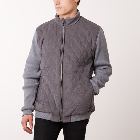 Contrast Sleeve Jacket // Gray (S)
