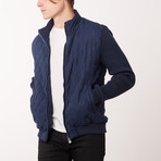 Paolo Lercara // Contrast Sleeve W8 Jacket // Navy (L)