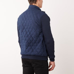 Paolo Lercara // Contrast Sleeve W8 Jacket // Navy (M)