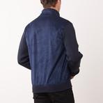 Paolo Lercara // Contrast Sleeve Jacket // Navy (M)