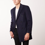 Paolo Lercara // Double Breasted Coat // Navy (US: 38R)