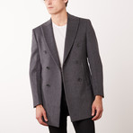 Paolo Lercara // Double Breasted Coat // Grey (US: 37S)