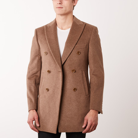 Paolo Lercara // Double Breasted Coat // Camel (US: 34R)