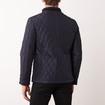 Paolo Lercara // Quilted Coat // Hot Navy (2XL)