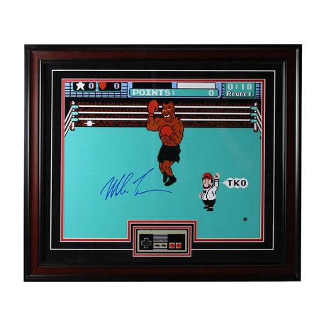Signed Punch-Out!! Photo + Nintendo Controller // Mike Tyson
