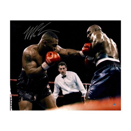 Mike Tyson /& Evander Holyfield Photo Background Glove Case
