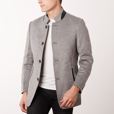 Paolo Lercara // Stand Collar Jacket // Light Grey (US: 34R)