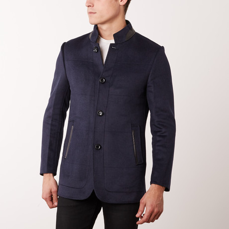 Paolo Lercara // Stand Collar Jacket // Navy (US: 42R)