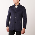 Paolo Lercara // Stand Collar Jacket // Navy (US: 36R)