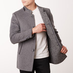 Paolo Lercara // Stand Collar Jacket // Medium Grey (US: 38R)