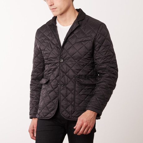 Paolo Lercara // Quilted Coat // New Black (S)