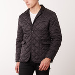 Paolo Lercara // Quilted Coat // New Black (XL)