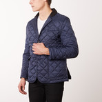 Paolo Lercara // Quilted Coat // New Blue (3XL)