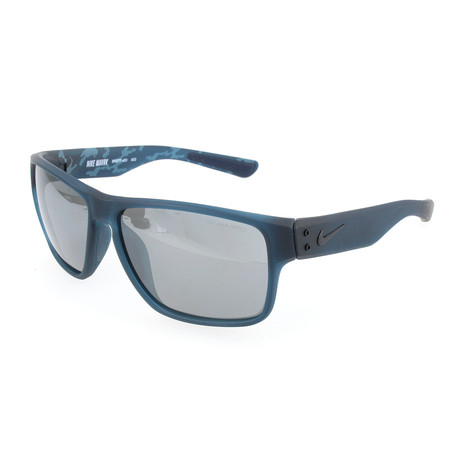 Unisex Maverick Sunglasses // Blue Black + Gray Silver