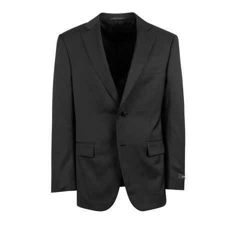 Pal Zileri // Wool 2 Button Suit // Black (Euro: 46)