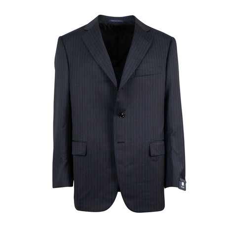 Pal Zileri // Striped Wool Three Button Suit // Gray (Euro: 46)