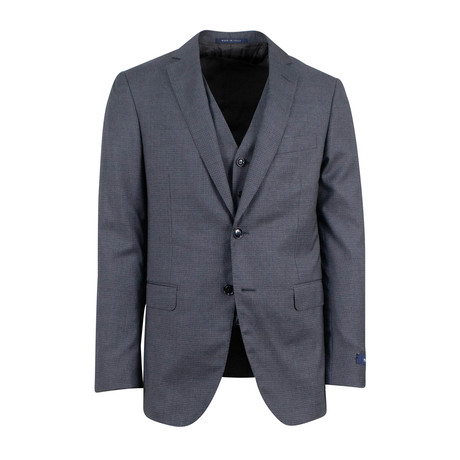 Pal Zileri // Wool 2 Button Three Piece Suit // Heather Gray (Euro: 46)