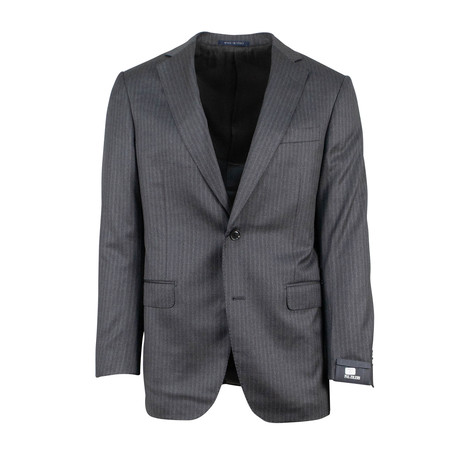 Pal Zileri // Pinstriped Wool 2 Button Suit // Heather Gray (Euro: 46)