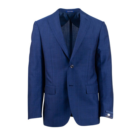 Pal Zileri Sartoriale // Striped Mohair 2 Button Suit // Blue (Euro: 46)