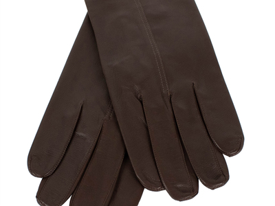 Photo of CLEARANCE: Accessories Curated Accoutrements John Lobb // Unisex Calfskin Leather Gloves // Brown (L) by Touch Of Modern