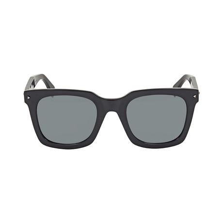 9677bb2f3c Fendi    Men s Classic Square Sunglasses    Black + Grey Mirror