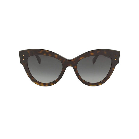 Women's FF-0266 Sunglasses // Havana + Gray Gradient