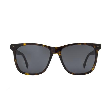Fendi // Rectangle Sunglasses // Havana + Grey