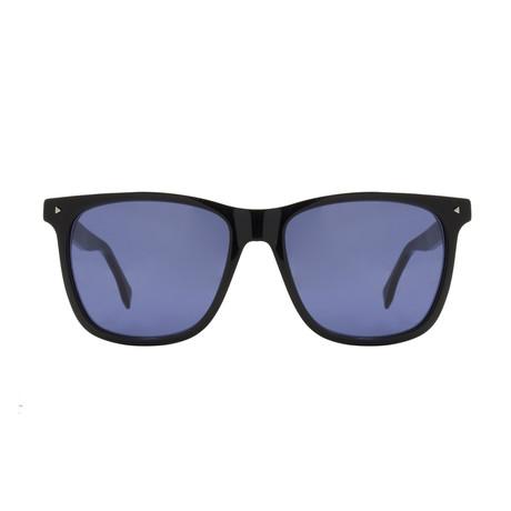 Fendi // Men's Rectangle Sunglasses // Black + Grey