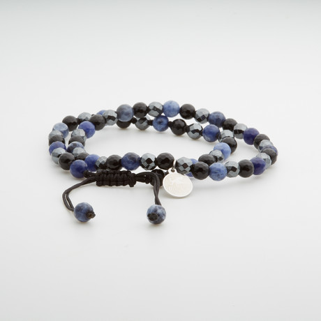 Dell Arte // Double Combo Beaded Bracelets // Blue + Multicolor