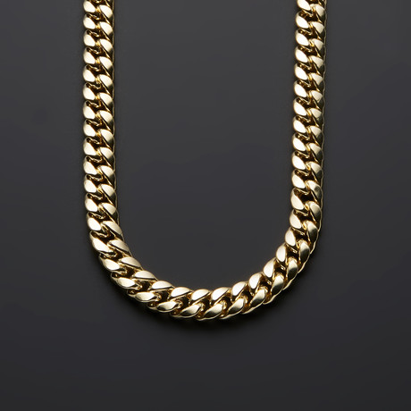 "Heavy Miami Cuban Chain Necklace // 9.5mm (28"")"