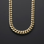 "10K Semi-Solid Heavy Miami Cuban Chain Necklace // 9.5mm (24"")"