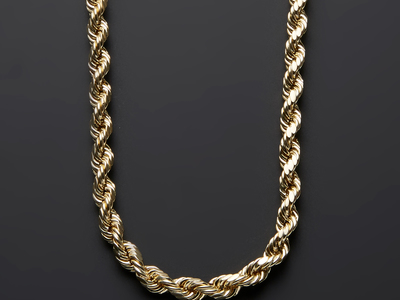 "Photo of Barzel Classically Cool 10k Gold Chains Thick Rope Chain Necklace // 7mm (22"") by Touch Of Modern"