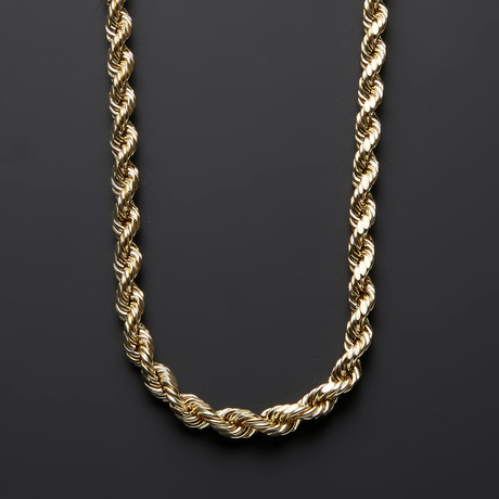 "Thick Rope Chain Necklace // 7mm (22"")"