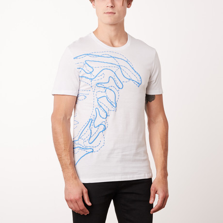 T-Shirt // White + Surf (S)