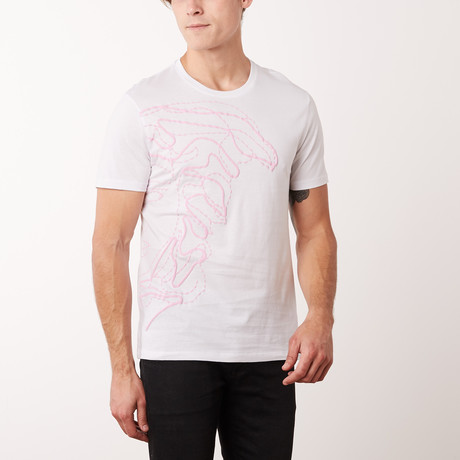 Versace Collection T-Shirt // White + Rosa (S)