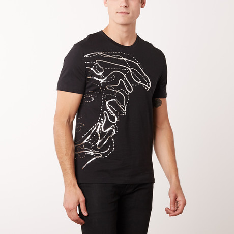 Versace Collection T-Shirt // Black + Silver (S)