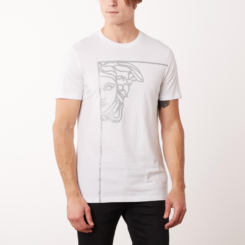 a8fe48115 Medusa Corner T-Shirt // White + Silver (L) - Versace Collection ...